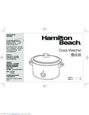 Hamilton Beach Crock Watcher C33138A Manuals