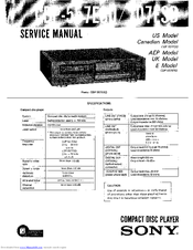 Sony CDP-707ESD Manuals