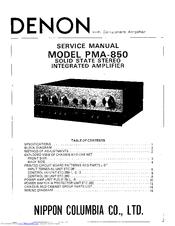 Denon PMA-850 Manuals