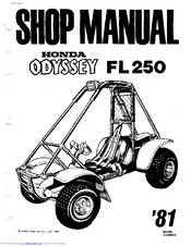 Honda 1981 Odyssey FL250 Manuals