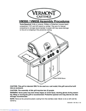 Vermont Castings VM508 Manuals