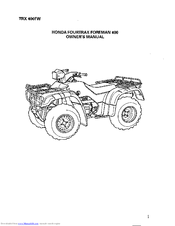 Honda Fourtrax Foreman TRX400FW 1997 Manuals
