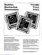 Multifan T15-WD Manuals