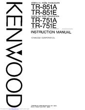 Kenwood TR-751E Manuals