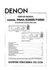 Denon PMA-735R Manuals