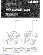Juki MO-634DE Manuals