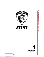 Msi GP72 7RDX LEOPARD Manuals