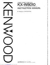 Kenwood KX-W8010 Manuals