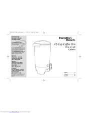 Hamilton Beach 40515 Manuals