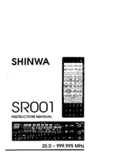Shinwa SR001 Manuals