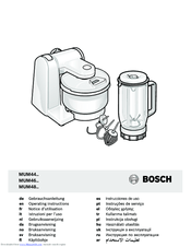 Bosch MUM 44 Series Manuals