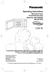Panasonic NN-SE995S Manuals