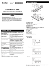 Brother Pocket Jet PJ-722 Manuals
