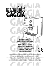 Gaggia cubika plus Manuals
