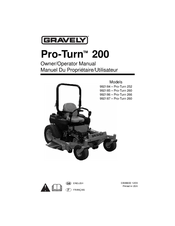 Gravely Pro-Turn 252 Manuals
