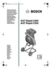 Bosch axt rapid 2200 Manuals