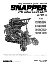 Snapper 3317523BVE Manuals