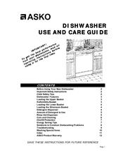 Asko D1996FI Manuals