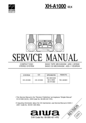 Aiwa XH-A1000 Manuals