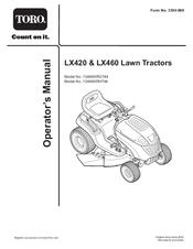 Toro LX460 Manuals