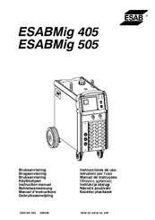 Esab ESABMig 405 Manuals