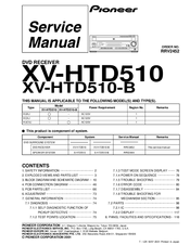 Pioneer XV-HTD510 Manuals