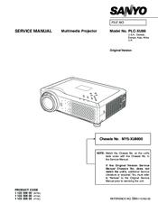 Sanyo PLC-XU86 Manuals