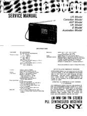 Sony ICF-SW7600 Manuals