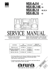 Aiwa NSX-BL14 Manuals