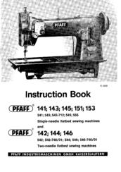 Pfaff 145 Manuals