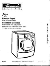 Kenmore HE4 110.8508 Manuals