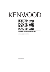 Kenwood KAC-8152D Manuals