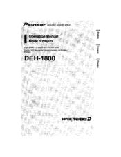 Pioneer DEH-1800 Manuals