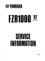 Yamaha 1987 FZR1000 Manuals