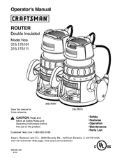 Craftsman 315.175110 Manuals