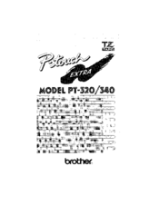 Brother P-touch Extra PT-340 Manuals