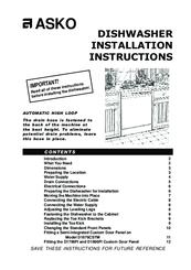 Asko D1796FI Manuals