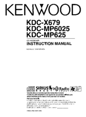Kenwood KDC-X679 Manuals