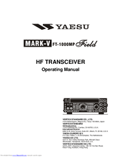 Yaesu MARK-V FT-100MP Manuals