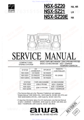 Aiwa NSX-SZ20 Manuals