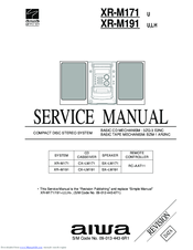 Aiwa XR-M171 Manuals
