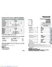 Panasonic F-PXF35X Manuals