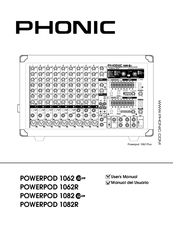 Phonic POWERPOD 1082R Manuals