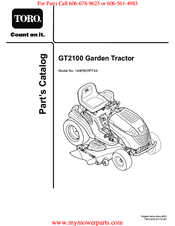 Toro GT2100 Manuals