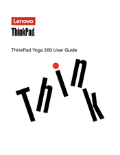 Lenovo ThinkPad Yoga 260 Manuals