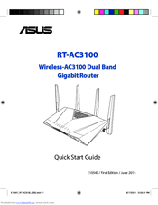 Asus RT-AC3100 Manuals