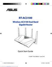Asus RT-AC3100 Manuals