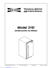 Sub-zero 315I Manuals