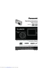 Panasonic LUMIX DMC-ZS1 Manuals