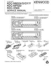 Kenwood KDC-MP522 Manuals